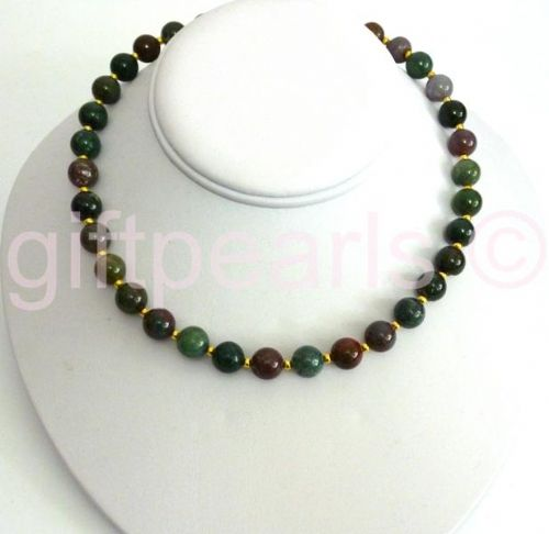 Jade and jasper necklace and bracelet set.